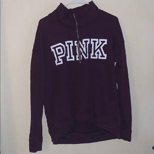 VS PINK Half-Zip Sweater
